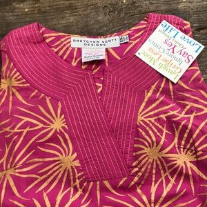 Gretchen Scott Designs Dresses - 🦋SALE🦋Gretchen Scott Tunic Dress Pink Gold NWT